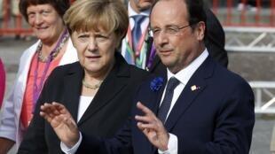 Ангела Меркель и Франсуа Олланд в Ипре 26/06/2014 (архив)