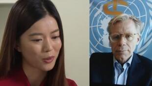 香港电台记者唐若韫采访世卫组织助理总干事艾尔沃德资料图片