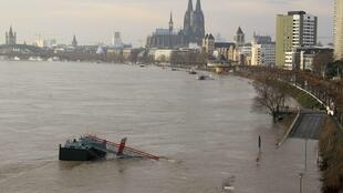 After weeks of heavy rain many German rivers have swollen dramatically