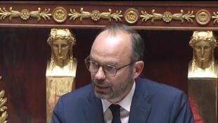 Le Premier ministre français Édouard Philippe, devant l'Assemblée nationale, le 4 juillet 2017.