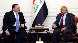 Ngoại trưởng Mỹ Mike Pompeo hội đàm với thủ tướng Irak Adel Abdul Mahdi tại Bagdad (Irak) ngày 07/05/2019.