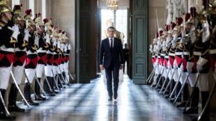 លោក Emmanuel Macron នៅវាំង Versailles កាលពីខែកក្កដា ២០១៧