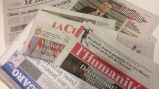 Primeiras páginas dos jornais franceses de 17 de dezembro de 2018