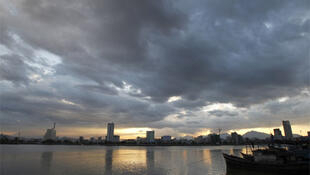 Clouds over the Han river in central Da Nang city