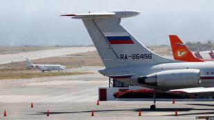 Máy bay Nga ở phi trường quốc tế  Simon Bolivar, Caracas. Ảnh 24/03/2019.