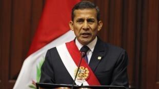 El presidente peruano, Ollanta Humala.
