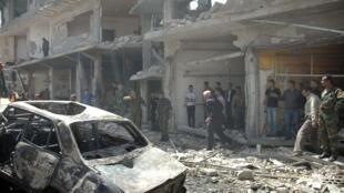 Cidade síria de Homs, destruída pelos confrontos e bombardeios.