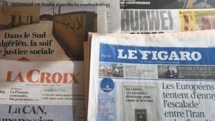 Primeiras páginas diários franceses 16/07/2019