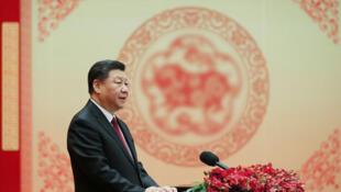 中國國家主席習近平在人民大會堂團拜會發表講話