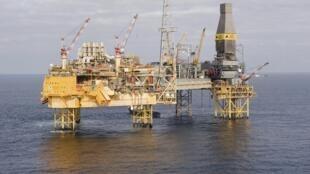 Платформа Elgin в Северном море