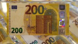 Objectif pour la France : mieux détecter le blanchiment d'argent et lutter contre le financement du terrorisme. Des billets de 200 euros. (Image d'illustration).