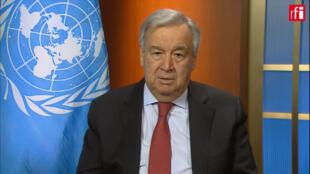 Antonio Guterres, vendred 27 mars, lors de son entretien pour RFI et France 24.