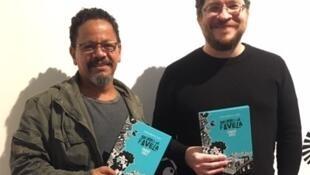 O fotógrafo Maurício Hora (esquerda) e o ilustrador André Diniz.