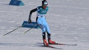 Cecilia Domínguez en los Juegos Olímpicos de Pyeongchang.