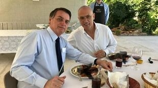 سفیر اسرائیل در کنار رئیس جمهوری برزیل