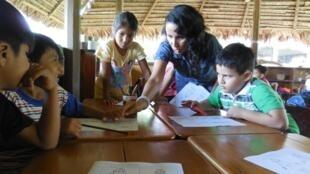 La Escuela Modelo de la Amazonía se encuentra en Yurimaguas, Perú.