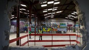 Место будущего центра по приему мигрантов, Париж, 30 августа 2016.