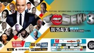 En RDC, l'humoriste Rachid Badouri est la vedette du festival de l'humour Toseka 3 à Kinshasa, qui se tient jusqu'au 30 août 2015.