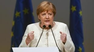 La chancelière allemande, Angela Merkel, lors d'un discours à Munich, le 24 mai 2019.