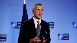 (Ảnh minh họa) - Tổng thư ký NATO Jens Stoltenberg tại Bruxelles, ngày 18/10/2019.