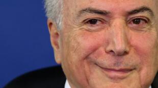 Foto de arquivo do presidente brasileiro, Michel Temer.