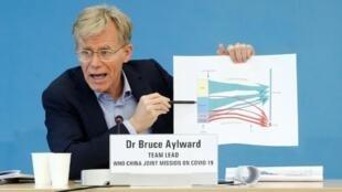 世界卫生组织(WHO)助理总干事布鲁斯·艾尔沃德资料图片