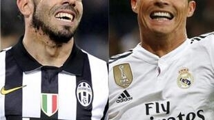 Carlos Tevez and Cristiano Ronaldo were both on the score sheet during the first leg of the Uefa Champions League semi-final between Juventus and Real Madrid