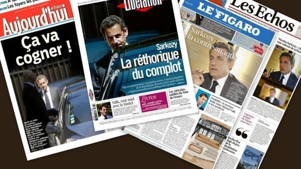 Capa dos jornais franceses Aujourd'hui en France, Libération, Le Figaro e Les Echos desta quinta-feira, 3 de julho de 2014.