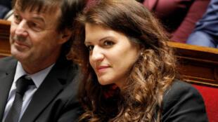 Marlène Schiappa pendant une session de questions au gouvernement à l'Assemblée nationale, à Paris, le 13 février 2018.