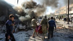 Chín người chết và 22 người bị thương trong vụ khủng bố bằng xe gài chất nổ ngày 23/11/2019 tại Tal Abyad, bắc Syria.