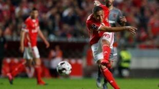 Carlos Vinícius, avançado do Benfica, marcou o único tento frente ao Gil Vicente.