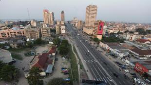"""""""Boulevard du 30 juin"""" in Kinshasa, DRC."""