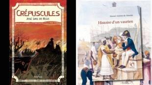 """Capa dos livros """"Crépuscules"""", publicado pela editora Anacaona, e """"Histoire d'un vaurien"""", pela editora Chandeigne."""
