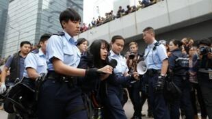 2014年12月11日,香港警方在金鐘清場。