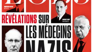 Capa da edição da L'Obs com médicos nazistas.