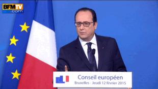 """Я сказал """"Индия""""? - ляпсус Франсуа Олланда на Совете Европы в Брюсселе 12/02/2015"""