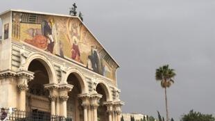 A Igreja de Todas as Nações, no Monte das Oliveiras (Jerusalém), onde fica o Jardim do Getsêmani, em 13 de abril de 2017.