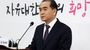 朝鮮前駐英公使太永浩Thae Yong Ho宣布代表自由韓國黨參選下屆韓國議員2020年2月11日首爾