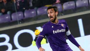 Davide Astori avec le maillot de la Fiorentina lors d'une rencontre de Serie A face à la Juventus Turin, le 9 février 2018.