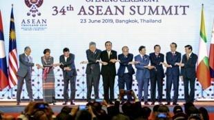 Các lãnh đạo ASEAN dự thượng đỉnh lần thứ 34 tại Bangkok. Ảnh chụp ngày 23/06/2019.