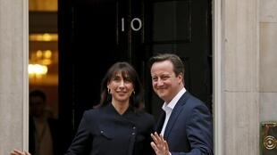 Дэвид Кэмерон с супругой, 8 мая 2015