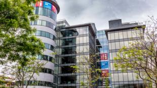 法广(RFI)、法国电视24台所在的FMM国家视听集团大楼外观  Issy-les-Moulineaux