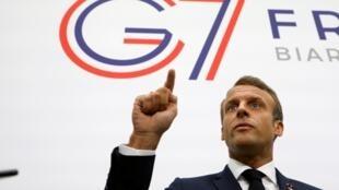 Tổng thống Pháp Emmanuel Macron tại G7 (2019)