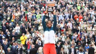 Rafael Nadal e seu oitavo troféu em Roland-Garros.