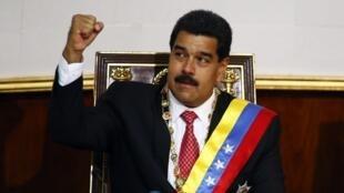 Nicolás Maduro en la Asamblea Nacional, octubre de 2013.