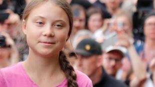 Swedish activist Greta Thunberg in Berlin on 19 July.