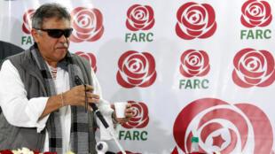 Jesus Santrich, một trong những cựu lãnh đạo tổ chức du kích FARC. (Ảnh chụp hồi tháng 11/2017)