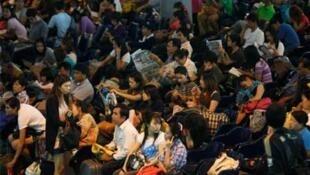 A Bangkok bus terminal on Thursday