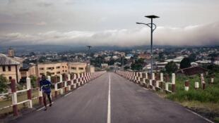Buea, capitale de de la province camerounaise du Sud-Ouest et épicentre des troubles du Cameroun anglophone, le 27 avril 2018.