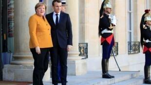 Эмманюэль Макрон и Ангела Меркель в Елисейском дворце, 27 февраля 2019.